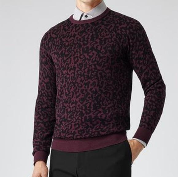 Reiss Sweaters Arrow Leopard Print Sweater Poshmark